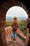 Viaggiatore in Georgia fotografie stock libere da diritti