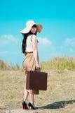 Viaggiatore grazioso Fotografia Stock