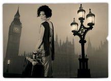 Viaggiatore a Londra Fotografia Stock Libera da Diritti
