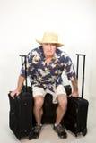 Viaggiatore stancare Fotografia Stock