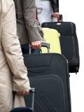 Viaggiatori all'aeroporto Fotografia Stock