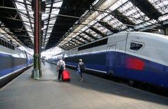 Viaggiatori del treno Immagini Stock