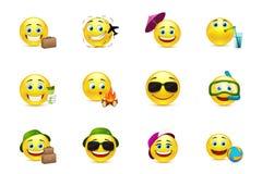 Viaggiatori di Smiley Collection Immagini Stock