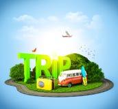 Viaggio illustrazione di stock