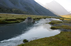 Viaggio ad Altay Mountains Immagini Stock