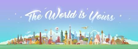 Viaggio al mondo Immagini Stock Libere da Diritti