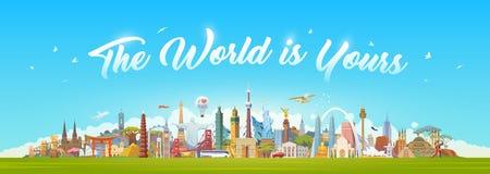 Viaggio al mondo Immagine Stock