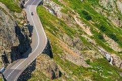 Viaggio alpino della bici di estate della strada Fotografia Stock Libera da Diritti