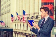 Viaggio americano dell'uomo d'affari, lavorante a New York Immagini Stock