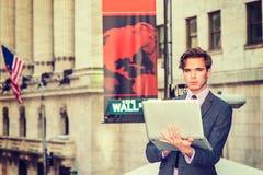 Viaggio americano dell'uomo d'affari, lavorante a New York Fotografia Stock Libera da Diritti