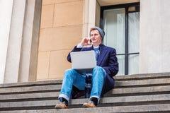 Viaggio americano dello studente di college, lavorante a New York Immagine Stock Libera da Diritti
