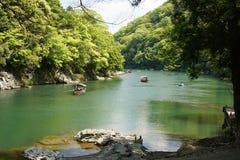 Viaggio Arashiyama Kyoto della barca Fotografie Stock Libere da Diritti