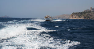 Viaggio avventuroso della barca, Francia Fotografia Stock Libera da Diritti