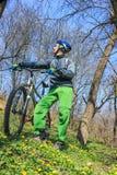 Viaggio in bici Immagini Stock