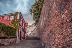 viaggio ceco della Praga-via immagine stock