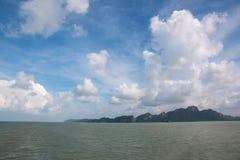 Viaggio con il traghetto all'isola di Koh Panghan immagine stock