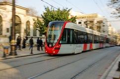 Viaggio con il tram Fotografie Stock Libere da Diritti