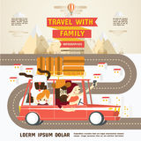 Viaggio con la famiglia Infographics Fotografie Stock