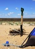 Viaggio con la tenda Fotografie Stock Libere da Diritti