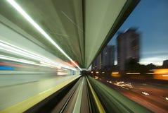Viaggio con luce Immagine Stock