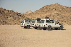 Viaggio con Toyota 4x4 in deserto Fotografia Stock Libera da Diritti