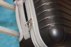 Viaggio con una valigia Fotografia Stock Libera da Diritti