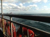 Viaggio Costantinopoli della barca di mare Immagine Stock
