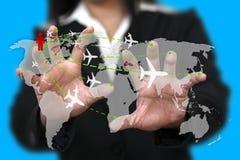 Viaggio d'affari del mondo illustrazione di stock