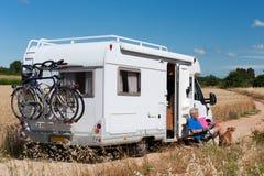 Viaggio dalla casa mobile Immagine Stock