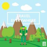 Viaggio dappertutto illustrazione di stock
