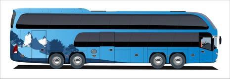 Viaggio del bus del supporto Immagine Stock