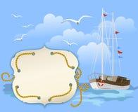 Viaggio del fondo con la nave Fotografie Stock