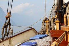 Viaggio del lago sulla barca Fotografia Stock