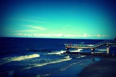 Viaggio del mare al petto della natura luminosa e pulita Fotografia Stock