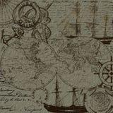 Viaggio del mare e progettazione nautica degli elementi Fotografia Stock