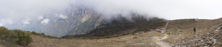 Viaggio del Nepal in valle della riserva naturale Fotografie Stock