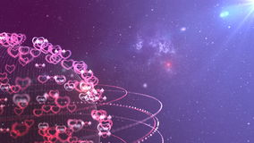 Viaggio del pianeta di amore in galassia royalty illustrazione gratis