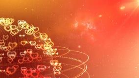 Viaggio del pianeta di amore nel fondo avvolto galassia royalty illustrazione gratis