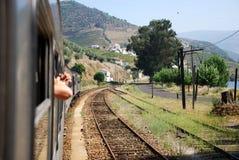 Viaggio del treno Immagine Stock