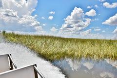 Viaggio dell'alligatore del airboat dei terreni paludosi degli S.U.A. dello stato di Florida Fotografia Stock Libera da Diritti