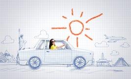 Viaggio dell'automobile Immagine Stock Libera da Diritti