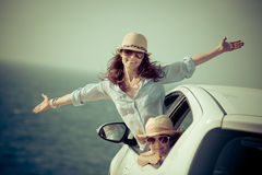 Viaggio dell'automobile di estate Fotografia Stock