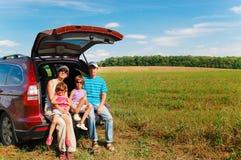 Viaggio dell'automobile di famiglia Immagini Stock