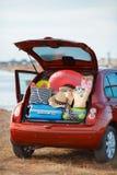 Viaggio dell'automobile di famiglia Fotografia Stock
