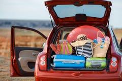 Viaggio dell'automobile di famiglia Immagine Stock