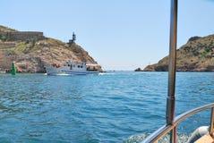 Viaggio della barca in Crimea Fotografie Stock