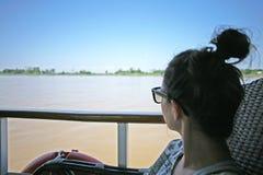 Viaggio della barca di Irrawaddy fotografia stock libera da diritti