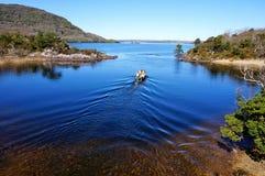 Viaggio della barca a Killarney Irlanda Fotografie Stock