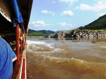 Viaggio della barca a Luang Prabang/Laos Immagine Stock