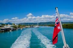 Viaggio della barca nella Grande barriera corallina Fotografie Stock